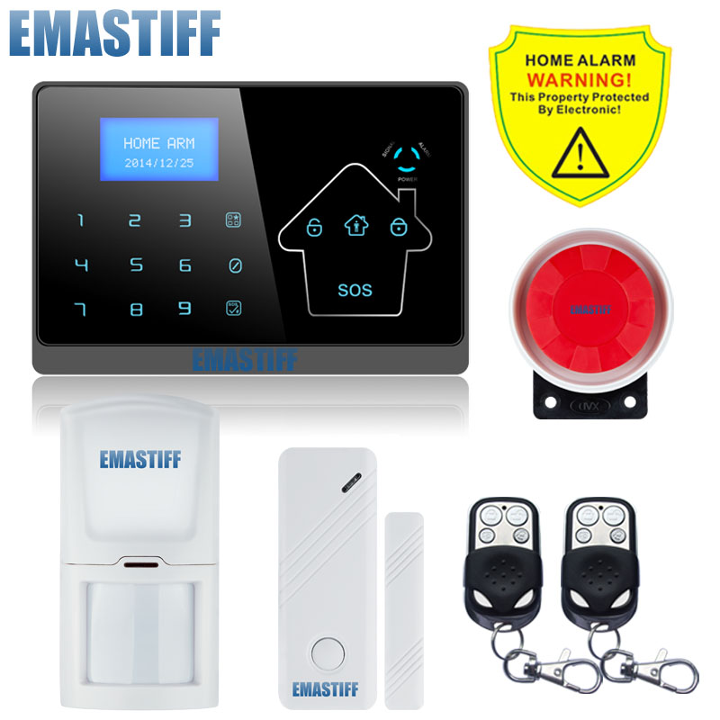 Free Shipping!Guard IOS Android APP Remote control Touch Screen Keypad Wireless GSM PSTN Home Security Burglar Alarm System 433mhz wireless keypad wireless siren led touch screen gs g90b wireless gsm wifi gprs burglar home security alarm system