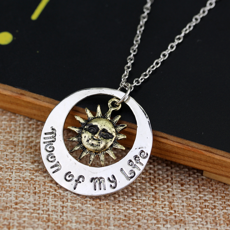 dongsheng Movie Jewelry 2018 Fashion Moon of My Life Sun Star Necklace Song Of Ice And Fire Necklace Game Of Thrones Pendants