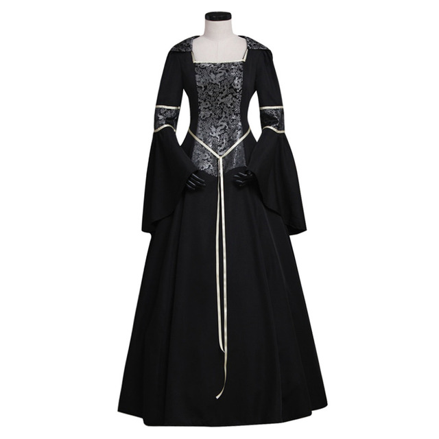Brand Women s Black Medieval Renaissance Victorian Dresses Costumes Ball  Gown Dresses Custom Made 46436e301a98