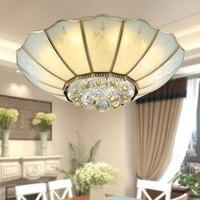 Ousailuosi americano quarto lâmpadas de teto de cristal em estilo Europeu da lâmpada de cobre sala de estar quarto TD2 ya75