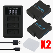 RP AHDBT501 Hero5 Battery Akku+ USB LED 3-Port Charger with Type C Port for GoPro 2018 Hero 5 GoPro Hero 6/7 Camera Battery 3pc for gopro 2018 gopro hero 5 battery 1600mah gopro 6 7 battery usb battery charger type c for gopro hero5 black accessories page 3 page 6 page 9 page 10