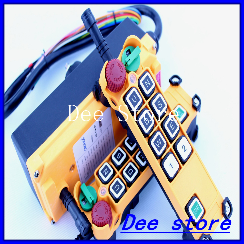 8 channels 1 Speed 2 transmitters Hoist Crane Truck Radio Remote Control Push Button Switch System with E-Stop free shipping 6 channel 1 speed 2 transmitters hoist crane truck radio remote control push button switch system with e stop