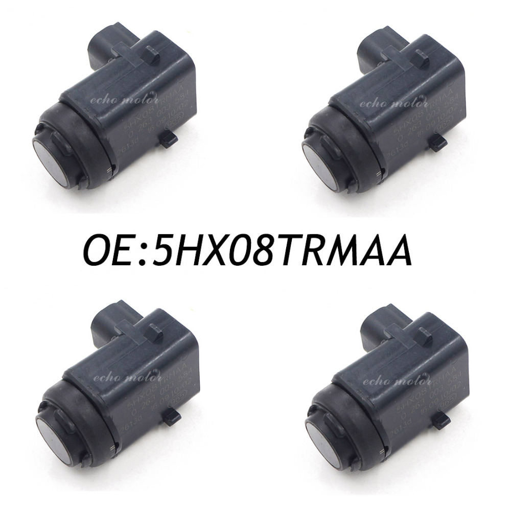 4PCS Front PDC Ultrasonic Parking Sensor For Jeep Grand Cherokee 5HX08TRMAA 3 Pins