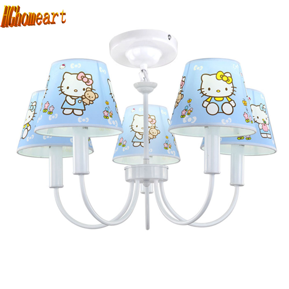 LED Children 's Garden Bedroom Wrought Iron Room Blue Chandeliers Led E14 Light Bulb Creative Cute Cartoon Five Chandeliers manufacturers wholesale cartoon cute monkey zebra children room lights bedroom warm children chandeliers children room lights