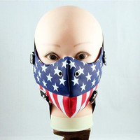 2017 Tokyo Ghoul Trendsetter Show Rivet Mask Cosplay Eye Patch Halloween Props USA Flags