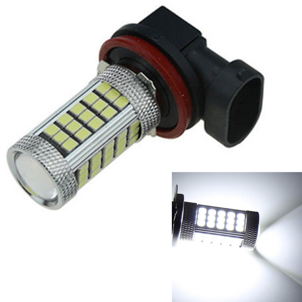 CYAN SOIL BAY H8 2835 63 SMD LED Car Auto Projector Fog Driving Light Bulb White Car Light Source 12V 24V Bright Than 33 SMD  car vehicle 9006 hb4 2835 63 66 smd 1200lm white bulb fog light for drl 6000k 12v 24v bright than 33 smd