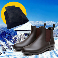 2017 Chelsea Men's rain boots low bot fashion spring warm boots  male low bot water shoes men slip bot galoshes fishing boots