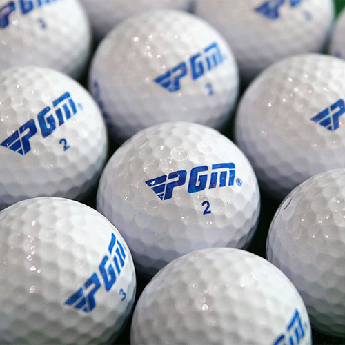 2Pcs Golf Balls Beginners Practice Driving Range Training Double Layer Ball Rubber For Training Ball