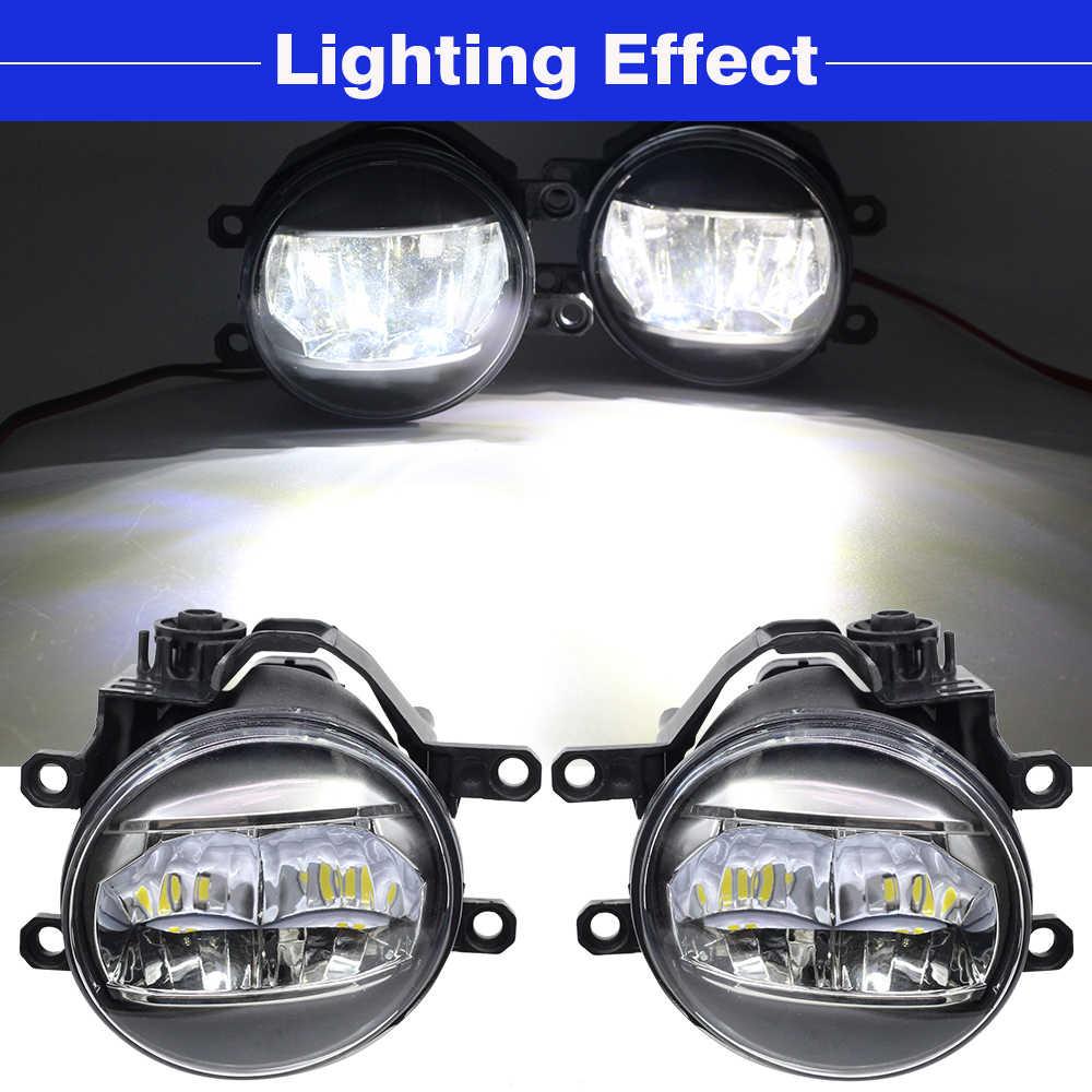 Cawanerl Car LED Fog Light 4000LM Daytime Running Light DRL White 12V Styling For Toyota Aygo (_B4_) 2014 2015 2016 2017 2018