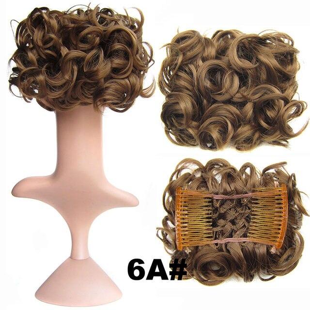 Online Shop Begoniak 41 Colors Women Fashion Curly Chignon Comb