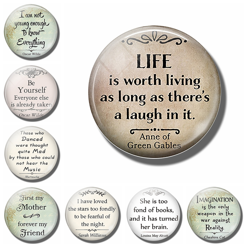 Anne of Green Gables Quote Book Magnet 25mm 38mm Classic Badge
