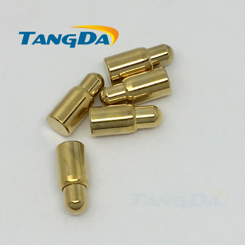 Tangda 4 9.7 connector pogopin Probe spring contact pogo pin 4*9.7mm SMD Charging copper needle gold plate 5u