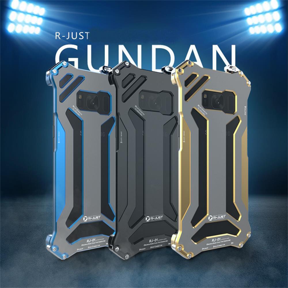 imágenes para De I-JUST Gundam de Lujo Para Samsung Galaxy Caja Del Teléfono S8 s8 Plus-Dirt Armor Choque Anti-choque de Metal De Aluminio marco de Caso de La Contraportada