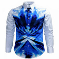 Unique Design Men's JC Color Digital Printing Shirt Fashion Long Sleeve Camouflage Printed Shirt