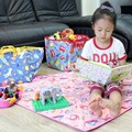 Multi - função dobrável dupla face tapetes de jogo rastejando almofada do jogo portátil à prova d ' água caixa de armazenamento de brinquedos para crianças crianças