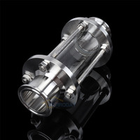 316 Stainless Steel Sanitary Fitting 2 Tri Clamp Type Flow Sight Glass For Homebrew Beer Brewing