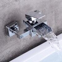 BECOLA латунь ванной кран водопад Смесители бассейна Настенные Ванная Нажмите Смесители Современный дизайн LH 8012