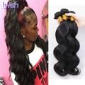 Peruano Onda Do Corpo Do Cabelo Virgem 3 Pacotes Barato Onda Do Corpo Feixes de Cabelo Humano 100g Virgem Peruano Feixes de Cabelo Iwish cabelo