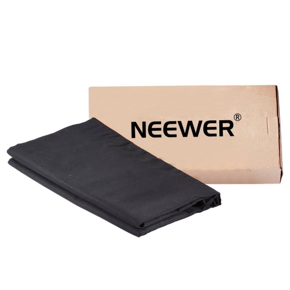 Neewer 10x10ft/3x3M Photo Studio Collapsible Cotton Backdrop Background for Photography Video Shooting-Black(backdrop ONLY) harman kardon onyx studio 2 black