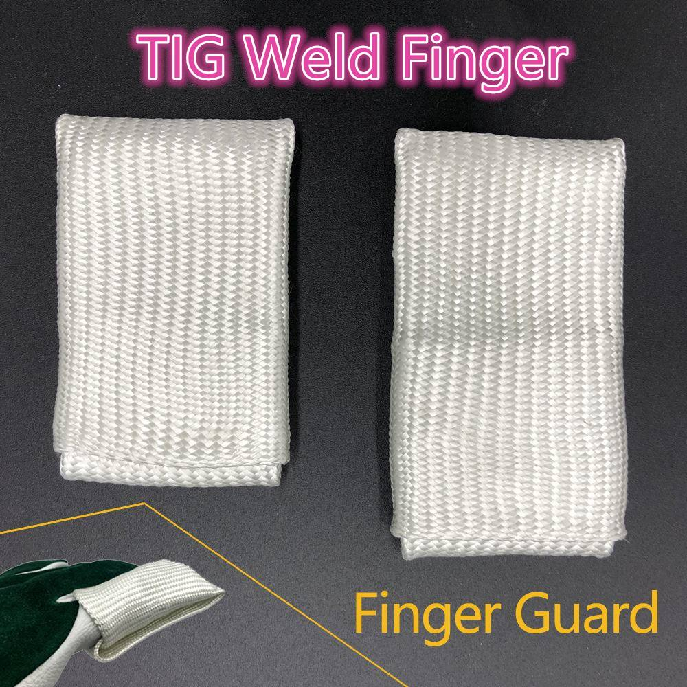 TIG Finger Welding Tips/Tricks TIG Finger Heat Shield Welding Gloves Heat Shield Finger Guards tig finger glove combo welder tool glass fiber welding gloves heat shield guard heat protection equipment by weld monger