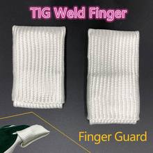 цена на TIG Finger Welding Tips/Tricks TIG Finger Heat Shield Welding Gloves Heat Shield Finger Guards