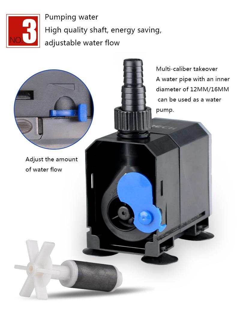 Super 4 In 1 Sunsun Internal Aquarium Filter Pump Fish Tank Multifunction Wave Maker Water Circulation Air Pump Filter 3