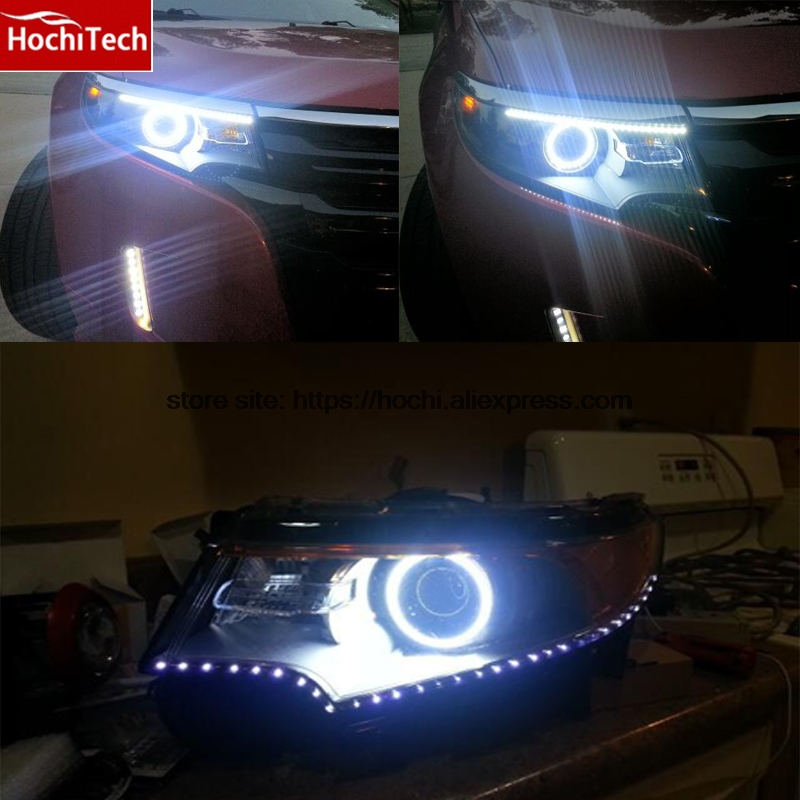 Ultra bright SMD white LED angel eyes 1600LM 12V halo ring kit for Ford Edge 2011 2012 for lexus rx450h rx350 rx270 2010 2011 2012 excellent led angel eyes ultra bright illumination smd led angel eyes halo ring kit