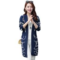 Spring Autumn Women Long Cardigans Sweater Coat Female Plus Size 6XL Loose Knitted Outwear Lady Cardigan Knitwear Sweater L41