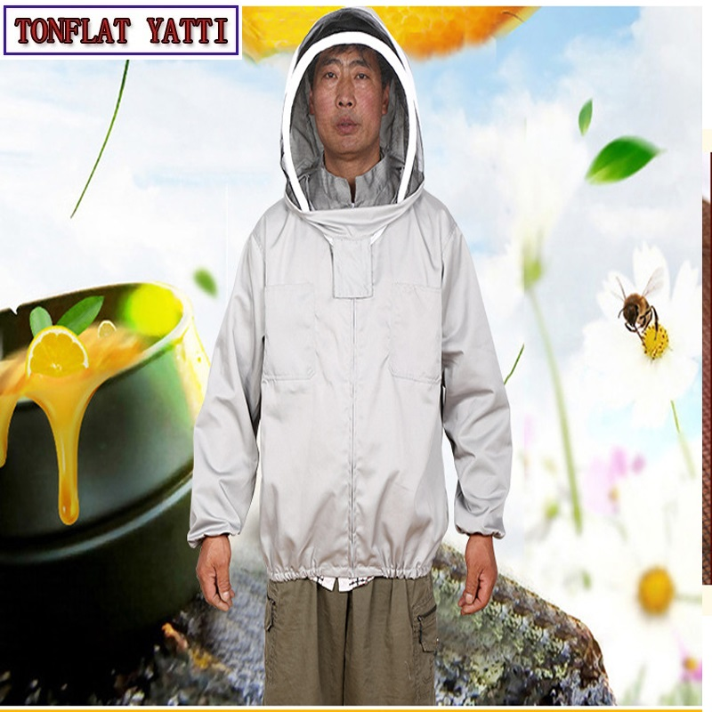 2018 New Beekeeping Jacket Veil Set Anti-bee Protective Safety Clothing Smock Equipment Supplies Bee Keeping Suit Jacket beekeeper beekeeping protective veil suit smock bee hat gloves full body set new safety clothing