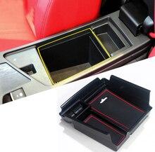 Для Alfa Romeo Giulia 2017 2018 Пластик подкладке подлокотник хранения Box держатель Организатор крышка отделка 1 шт. автомобиль для укладки аксессуары