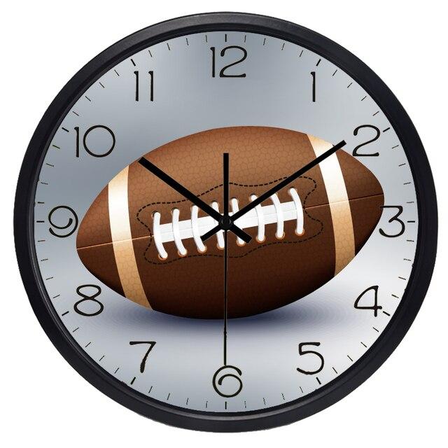 Rugby Wall Clock Livingroom For Boy Sport Clock Hot Sale