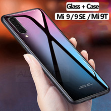 3D Glass +Case for Xiaomi Mi 9T 9 SE Hard Cover Luxury mi 9t se Case Full MI Protective