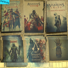 Assassin's Creed A gather The black flag Fraternity Home Furnishing decoration Kraft Game Poster Drawing core Wall stickers
