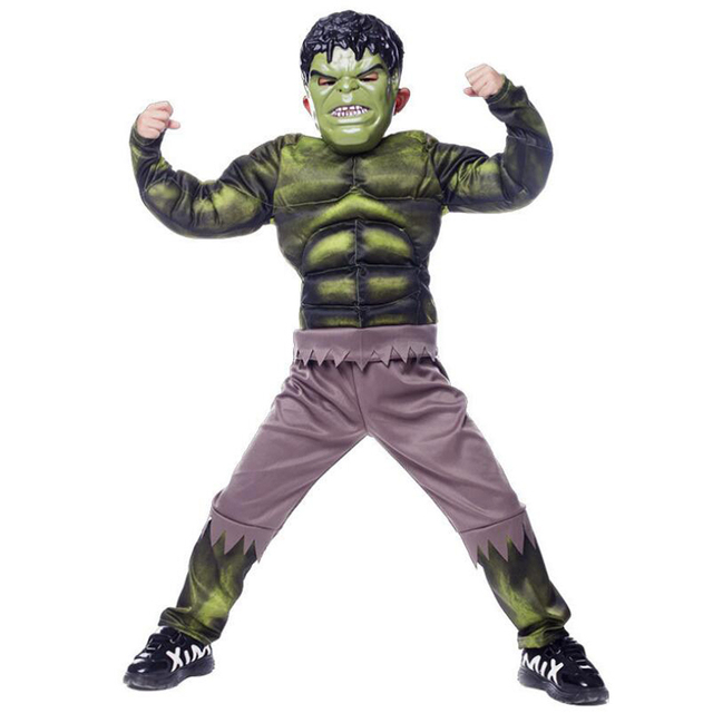 2018 New The Avengers Hulk Costume for boys Cosplay Halloween Costume for kids Carnival Clothes Children  sc 1 st  AliExpress.com & 2018 New The Avengers Hulk Costume for boys Cosplay Halloween ...