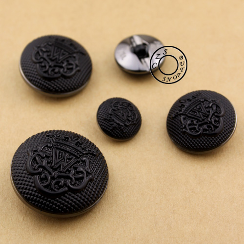 15-30mm British Black Color Buttons Crown Decorative Handmade Sewing Buttons Wholesale Price