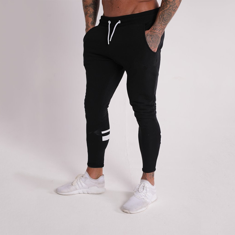 Image 2 - GYMOHYEAH Joggers Male Trousers Casual Pants Men Sweatpants Jogger Casual Elastic cotton GYMS Fitness Workout panTS black gray-in Skinny Pants from Men's Clothing