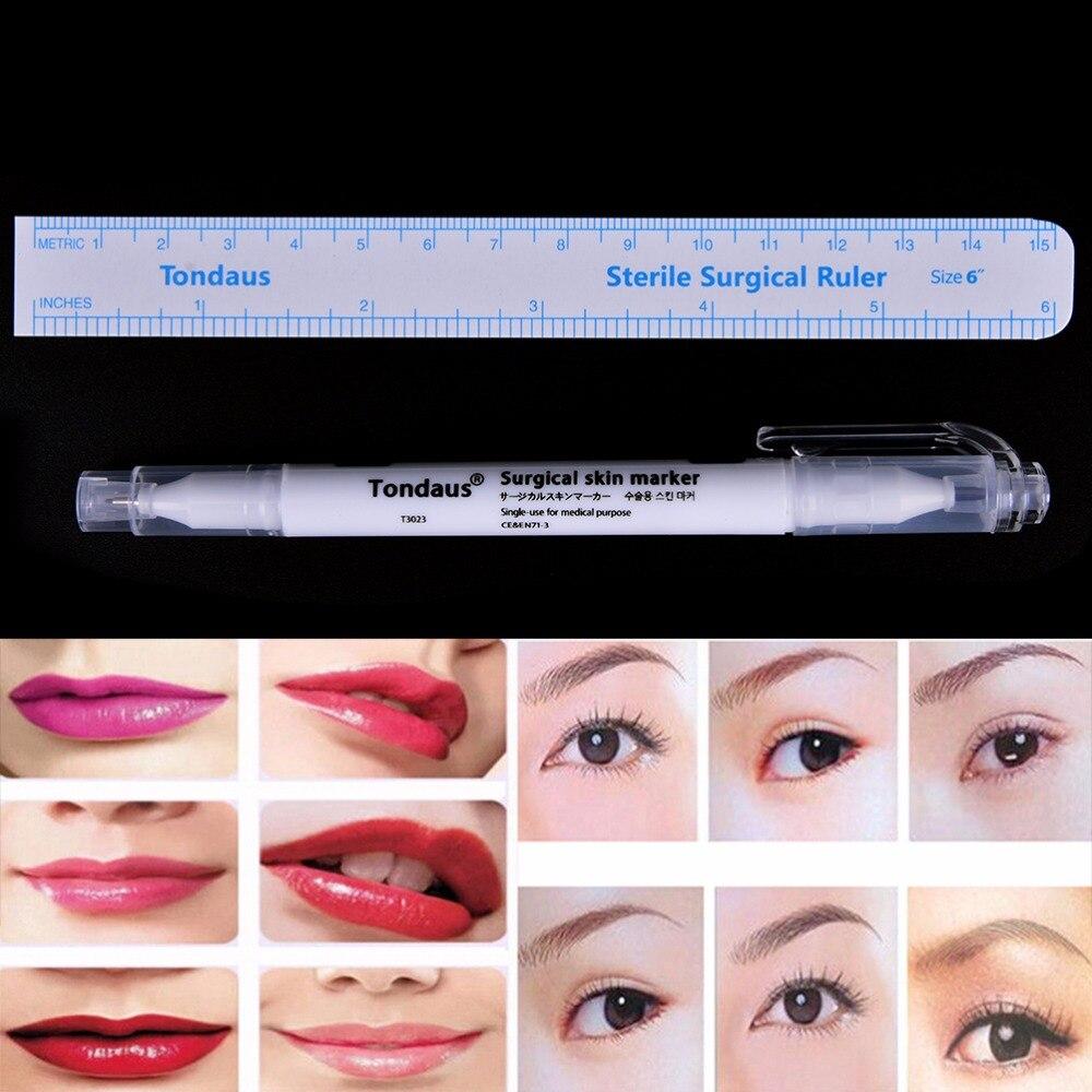 Beauty & Health Black Dual Tip Tattoo Pierce Skin Marker Medical Scribe Pen Blue Oily Pen Tattoo And Body Art Skin Marker Pen Piercing Pen 2pcs Rapid Heat Dissipation Tattoo Accesories