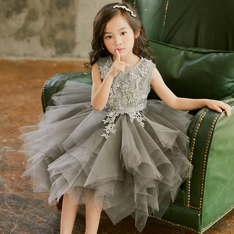 Flower Girl Party Tutu Dresses for Girls Lace Baby Vest Baptism Kids Wedding Dress Little Girls Dress Up Fancy Christmas CC929 new 2018 flower girl party dress baby birthday tutu dresses for girls lace baby vest baptism dresses pearls kids wedding dress
