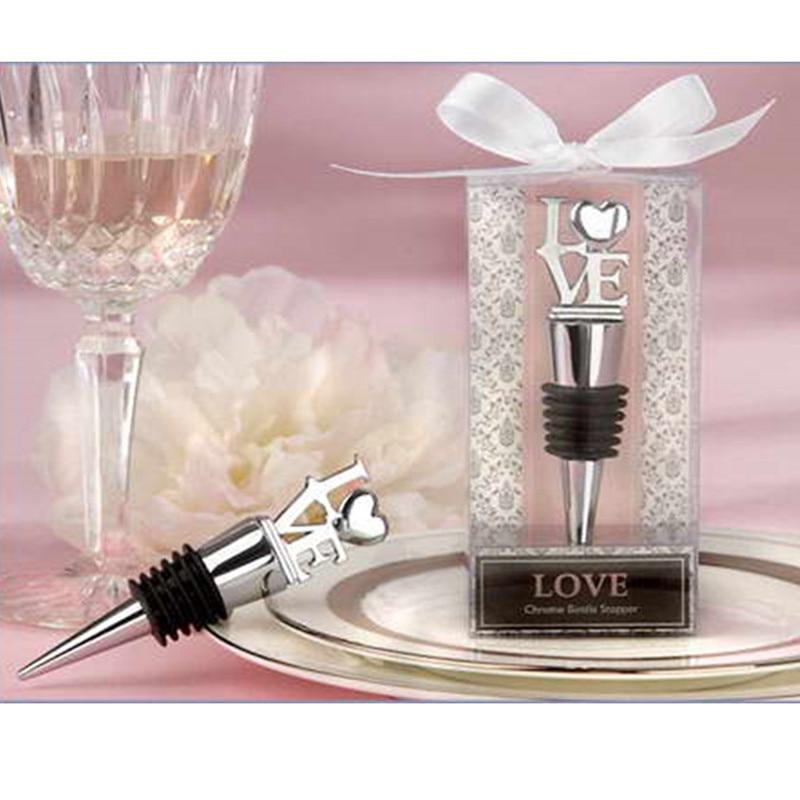 Proveedor de bodas de moda Regalo de boda Aleación Amor Vino Tapón - Para fiestas y celebraciones