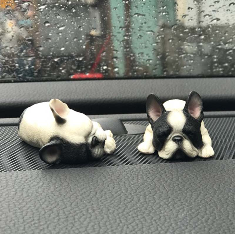 Mnotht 1 6 French Bulldog Model Sleeping Version Cute Mini Dog Sculpt Carving Model For Action