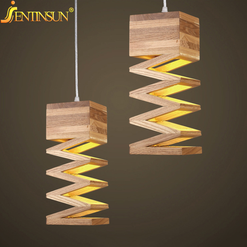 Modern Lamps Pendant Lights Wood Lamp for Restaurant Bar Coffee Dining Room LED Hanging Light Fixture Wooden Hollowed Lamparas hghomeart children room iron aircraft pendant light led 110v 220v e14 led lamp boy pendant lights for dining room modern hanging