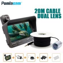 """X2G Рыбная камера 20 м 4,"""" дюймов HD 2MP подводная рыболовная видеокамера комплект 6 светодиодов видео эхолот для рыбалки"""
