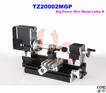 Electroplated Metal type! 60W Mini Metal Lathe B machine TZ20002MGP for amateur & school teaching
