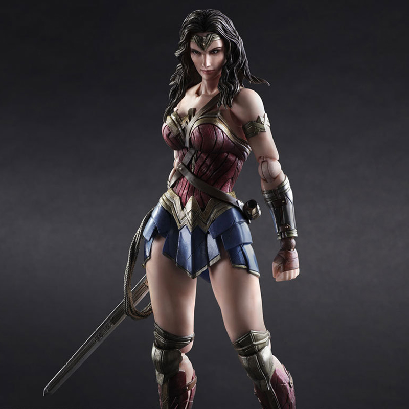 25cm Play Arts Kai Movable Figurine Batman VS Superman Wonder Woman PVC Action Figure Toy Doll Kids Adult Collection Model Gift pop figurine collection toy figure model doll