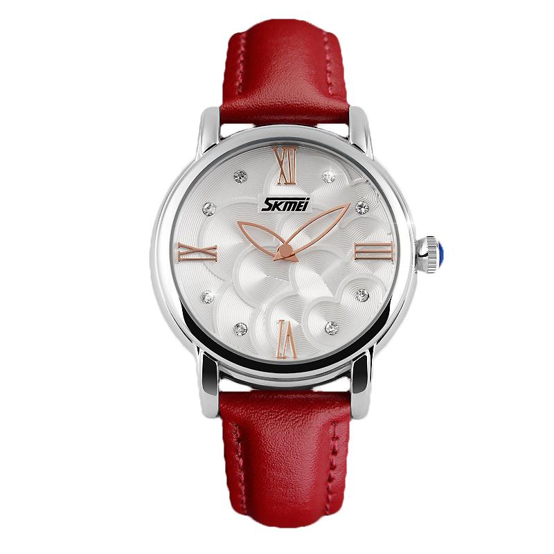 Prix pour Nouveau Designer Dames Montre-Bracelet Reloj Mujer Chiffres Romains Cadran Casual Robe Montre Femmes Noir Véritable En Cuir Xfcs Montre-Bracelet