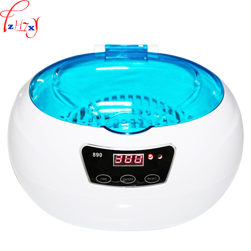 Small ultrasonic cleaning machine km-890 household jewellery watch tooth cover ultrasonic cleaning machine 110/220V 1PC