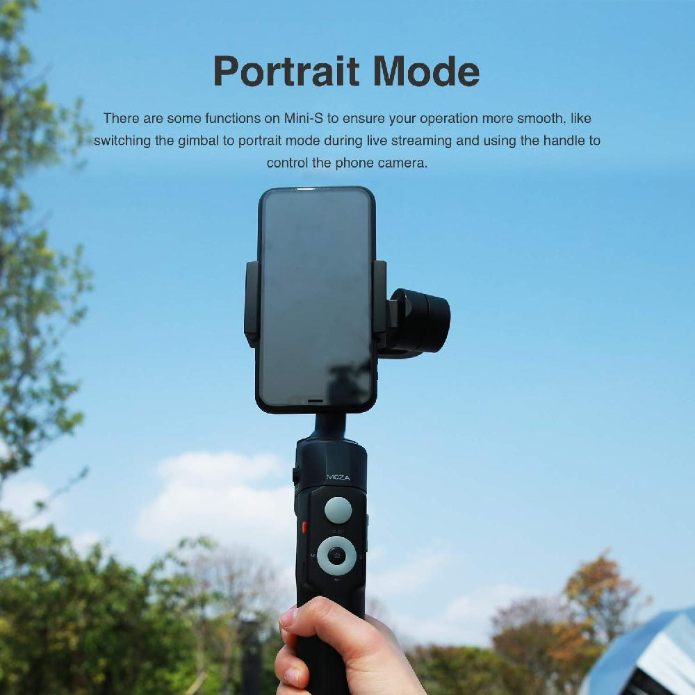 BEESCLOVER For Motion Recording Mini S Gimbal MOZA Mini S 3 Axis Foldable Smartphone Gimbal Stabilizer