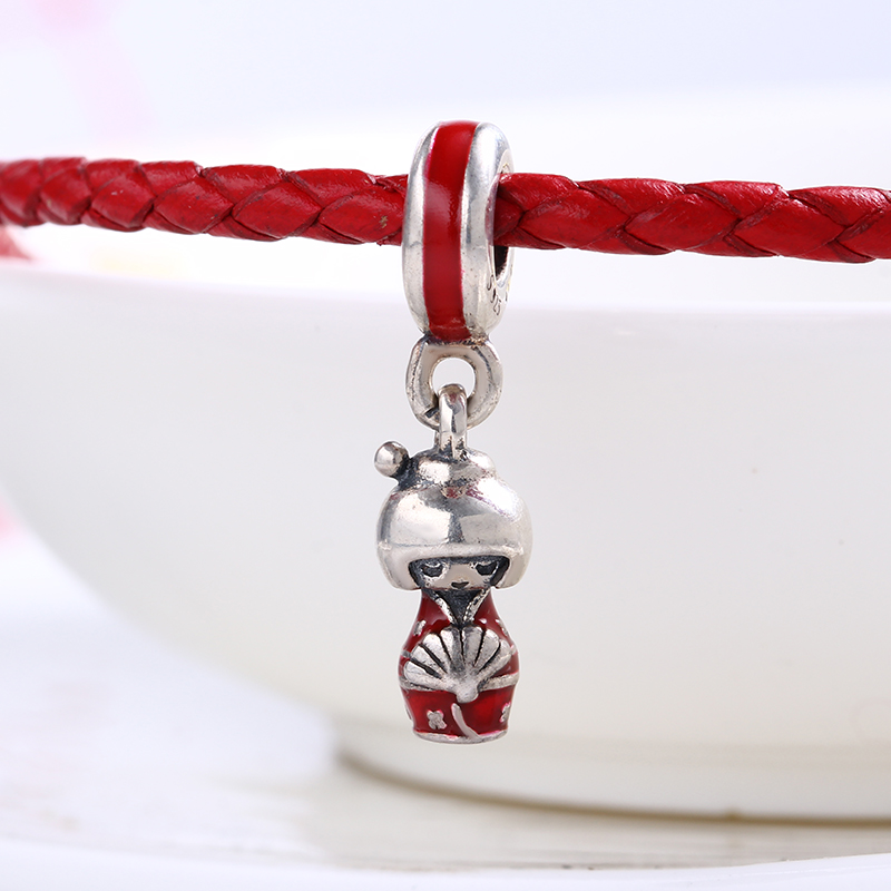 High Quality Authentic Japanese Girl charms silver S925 Logo Fit Pandora Bracelet 925 original Beads for jewelry Making Gift
