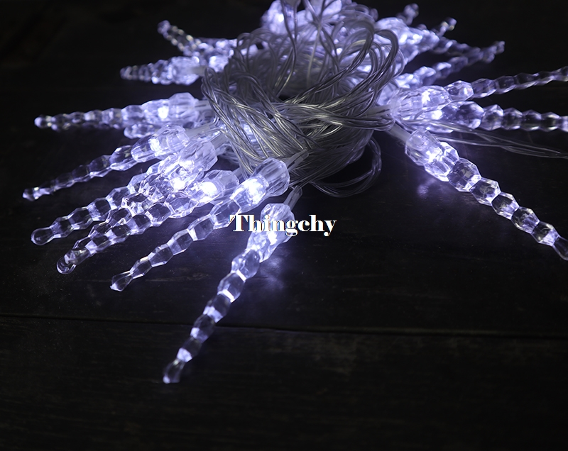 10M 50LED Crystal Icicle String Light Nytt År Jul Xmas Bröllopsfest Led Fairy Lights för nytt år / Garland / Hom Decor