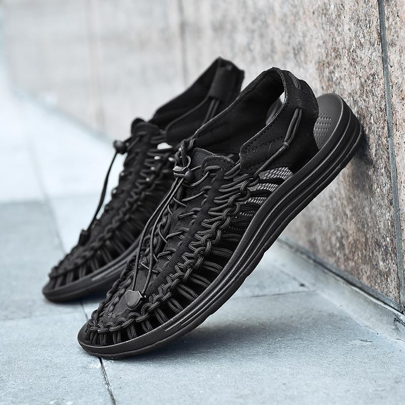 55298cf3b4e New 2019 Summer Men Sandals Fashion Handmade Weaving Design Breathable  Casual Beach Shoes Unique Brand Sandals. sku: 32979113679